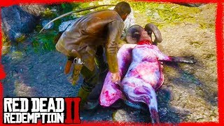 RDR2 hunting and skining animals gameplay 🤠
