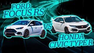 Ponemos a prueba un🚗 Ford Focus Rs vs 🚙Honda Civic Type R   Casi morimos por unas ovejas 💥🐑🐐