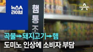 [경제 톡톡톡] 곡물→돼지고기→햄…도미노 인상에 소비자…