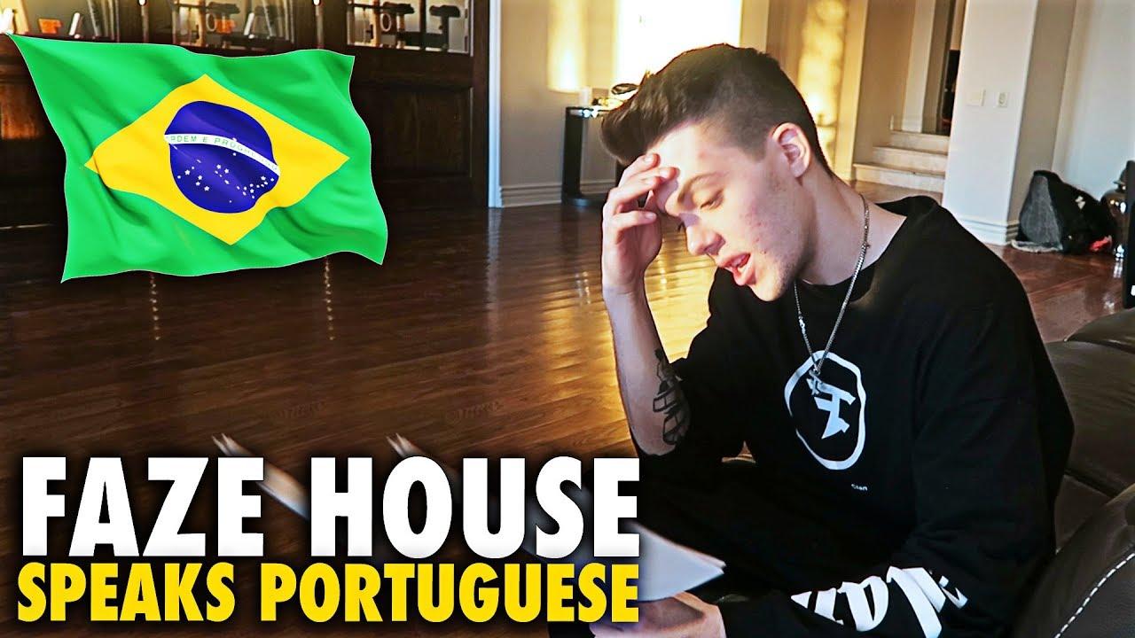 Faze House Tries To Speak Portuguese Youtube