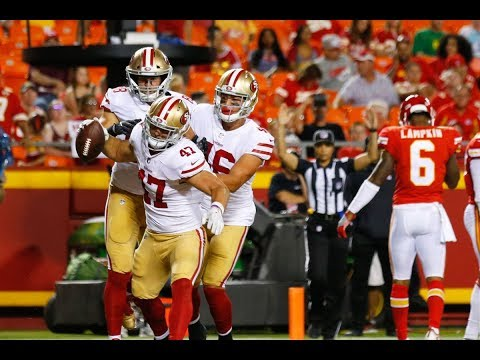Raheem Mostert & Tyler McCloskey vs Chiefs (Preseason Week 1) - Looking Good! | 2017-18 NFL