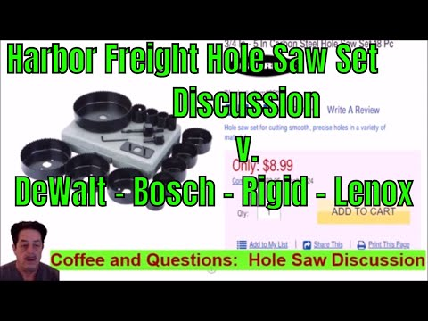 Harbor Freight Hole Saw Discussion And Why Not To Buy Youtube
