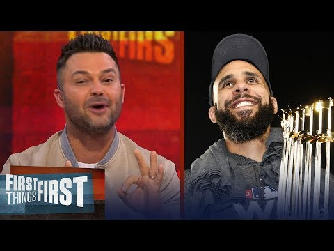 Nick Swisher reacts to the Boston Red Sox winning the 2018 World Series | MLB | FIRST THINGS FIRST