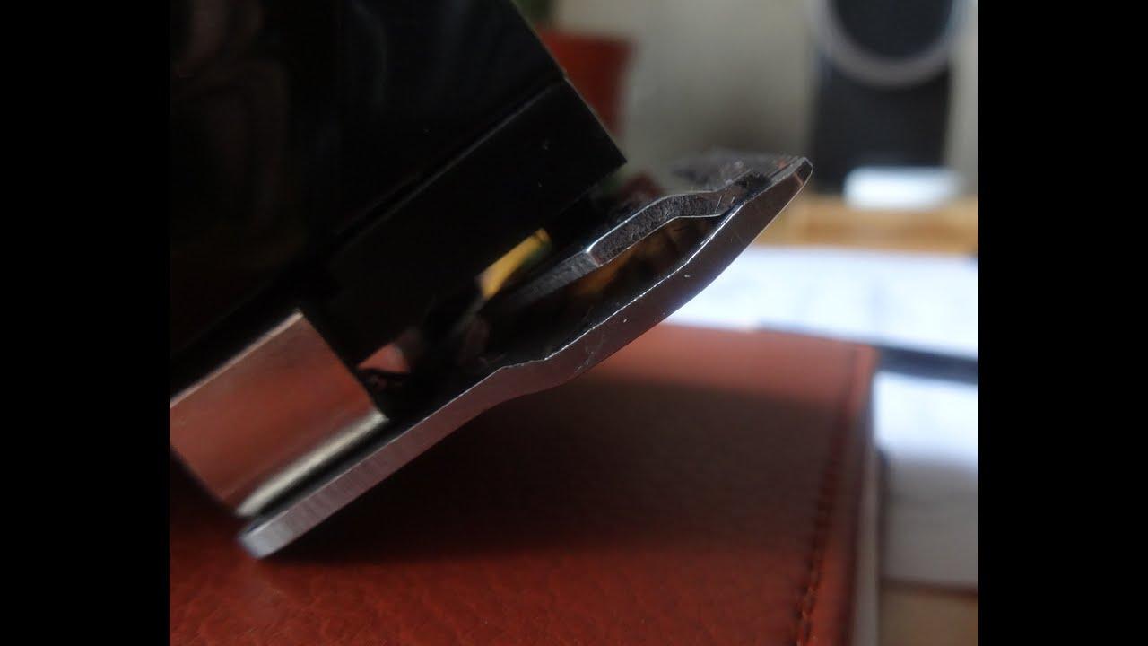 Заточка ножей ледобура - YouTube