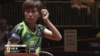 女子シングルス1回戦 佐藤瞳 vs ムカルジー第4ゲーム