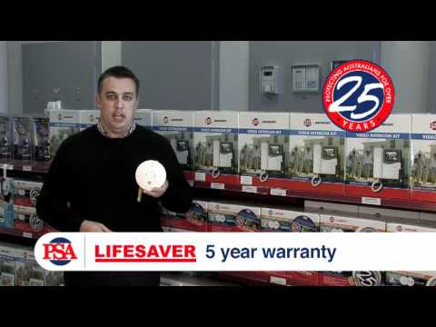 LIFESAVER LIF5800RL Rechargable Lithium Photoelectric Smoke Alarm