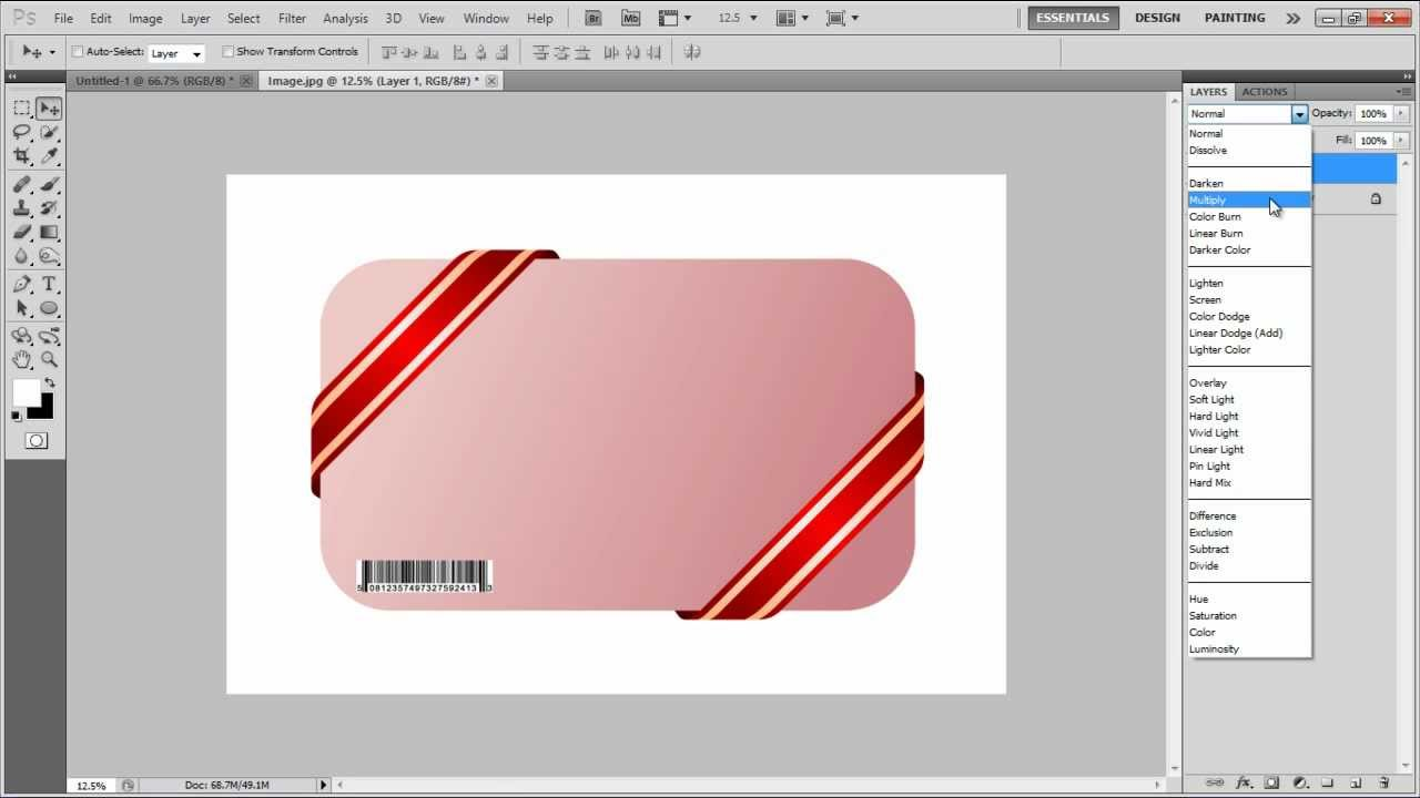 How to create a barcode in photoshop cs6