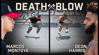 Marcos Montoya's Switch Ollie Late Flip Vs. Deon Harris's Kickflip Late Flip | DEATH BLOW