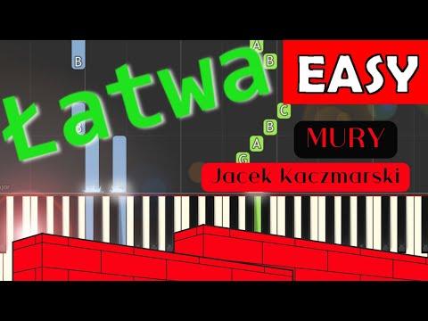 🎹 Mury (Jacek Kaczmarski) - Piano Tutorial (łatwa wersja) 🎹