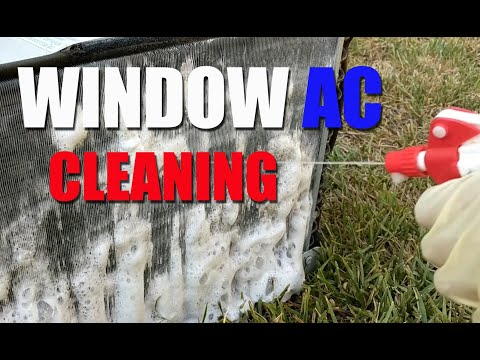 Cleaning a Window AC (Air Conditioner)