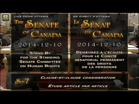 Joyce Gordon Presents to the Senate Committee on Human Rights - Genetic Fairness