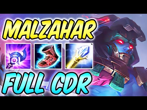 MALZAHAR MID GUIDE WITH BEST 40% CDR Build & Runes S10   Diamond Commentary   League of Legends