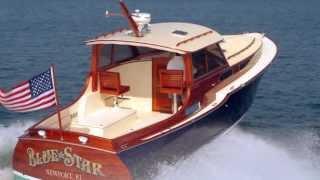 Blue Star Custom Classic Wooden Boat