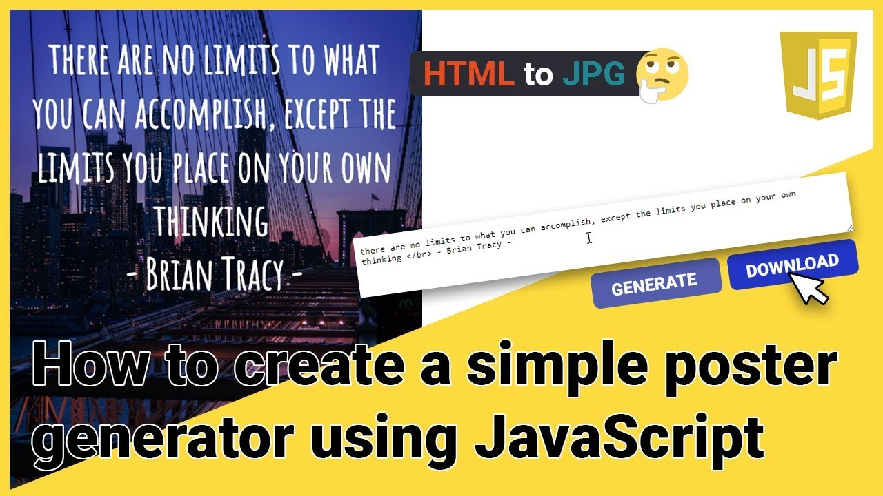 How to Create A Poster Generator using JavaScript