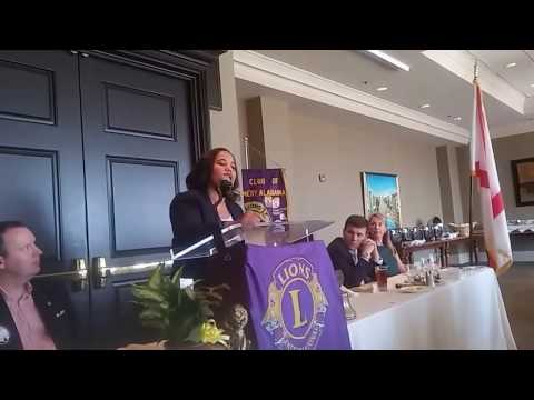 Chief Deputy District Attorney Lloria James at Montgomery Lions Club