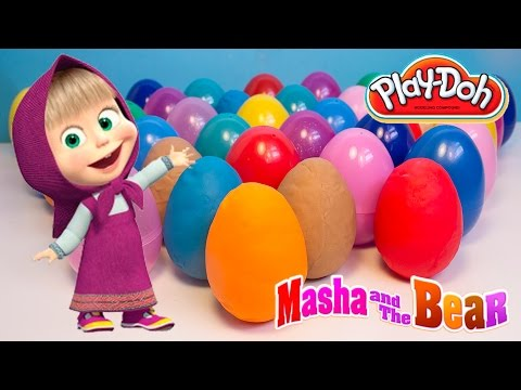 Play Doh Eggs Masha and the Bear Surprise Eggs Маша и Медведь Masha y el Oso Masha Huevos Sorpresa
