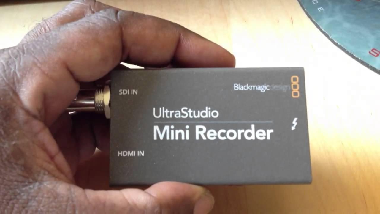 Blackmagic Design Ultrastudio Mini Recorder Review Youtube