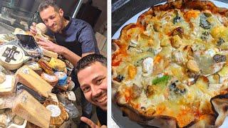 RECORD du MONDE! Je goûte sa PIZZA aux 257 FROMAGES! - VLOG #966