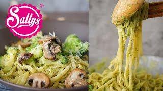 Nudeln mit grüner Soße / Avocado & Brokkoli / 20 Minuten Essen