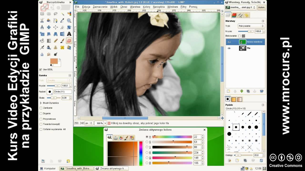 Kolorowanie Czarno Białych Zdjęc 22 Kurs Video Edycji Grafiki