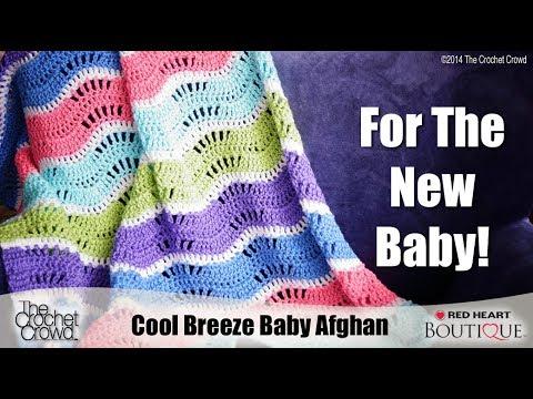 Baby Wave Afghan Crochet Tutorial Youtube