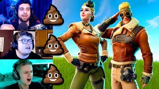STREAMERS REACT TO NEW WINGTIP - CLOUDBREAKER PILOT SKINS - Fortnite Best - Funny Moments #254