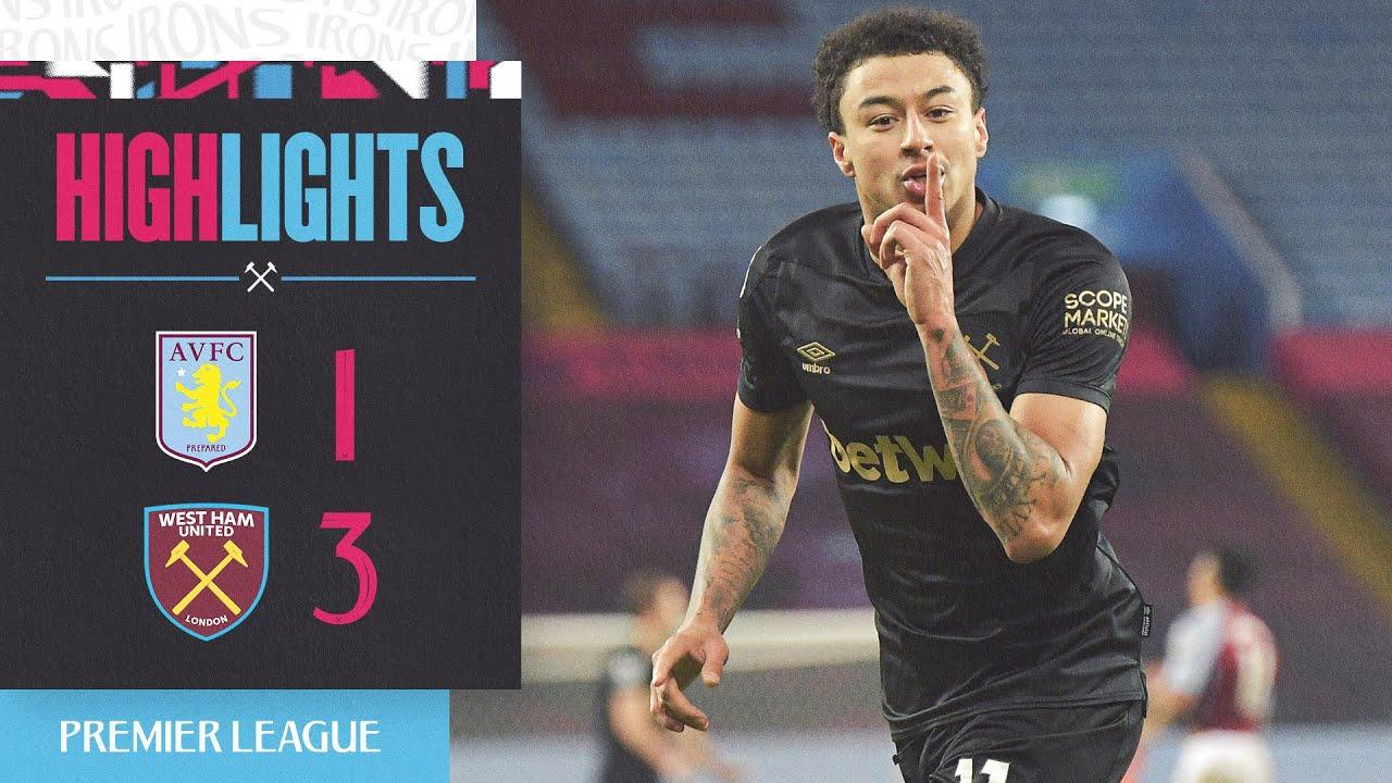 Goals Aston Villa 1 3 West Ham United Youtube