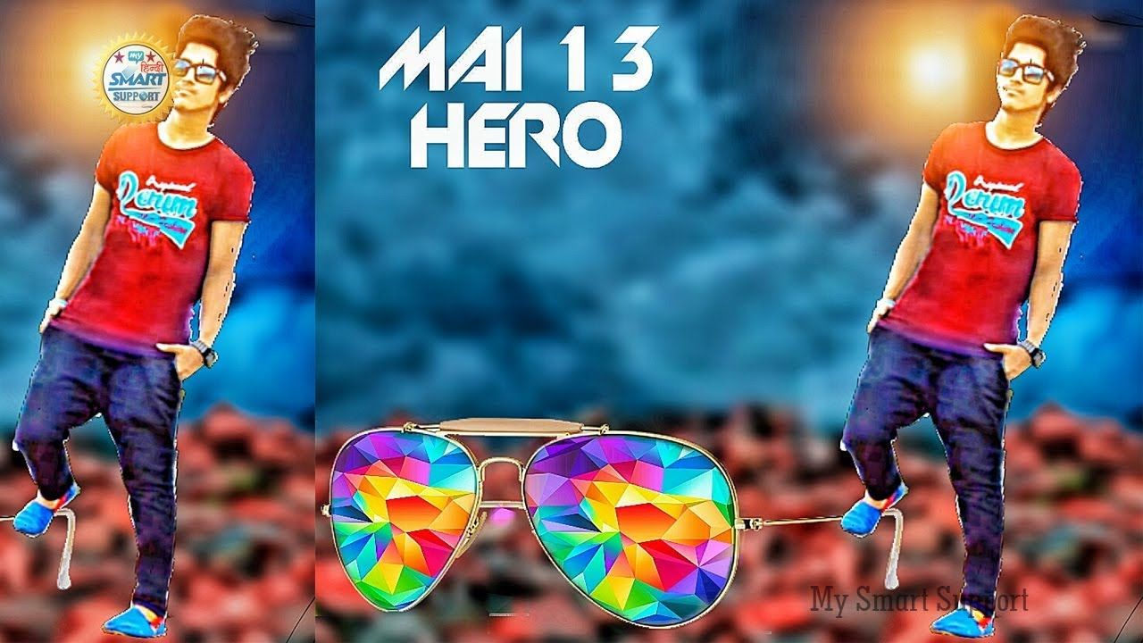 Mai 13 HERO+full attitude image editing|picsart heavy editing  tutorial|picsart Manipulation editing