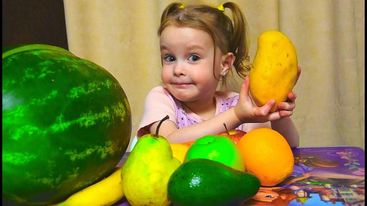 Вика расскажет о пользе фруктах - Вкусный сборник - учим ...