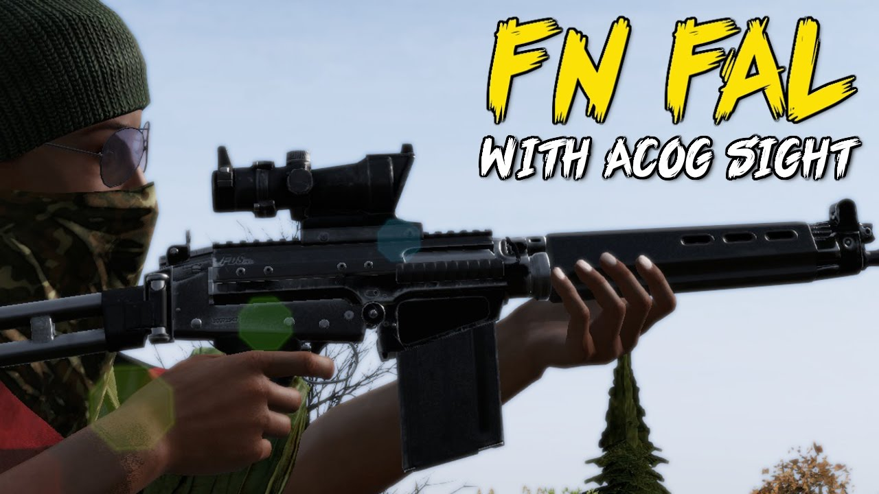 0 61 exp dayz standalone fal acog sight sound test youtube