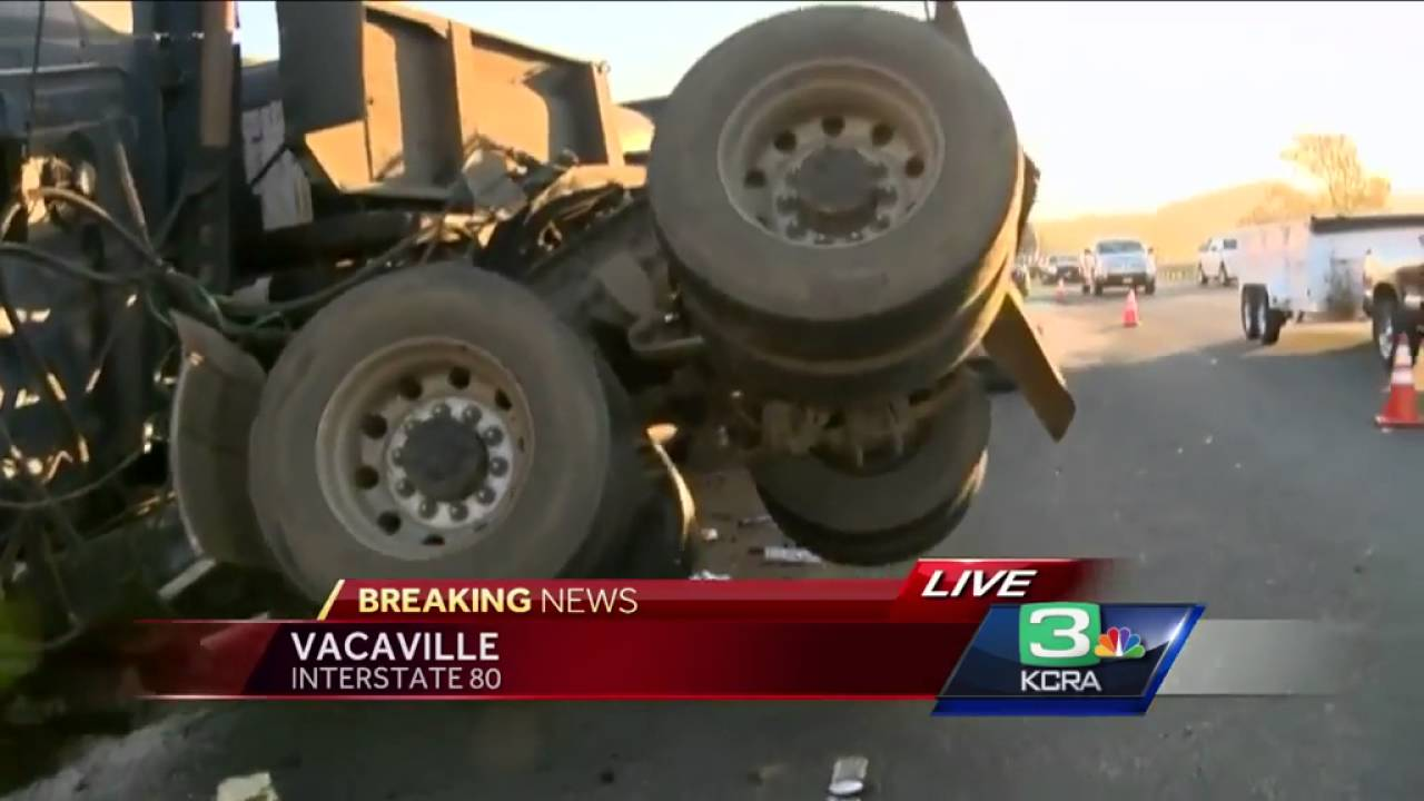 Big rig crash in Vacaville snarls morning commute