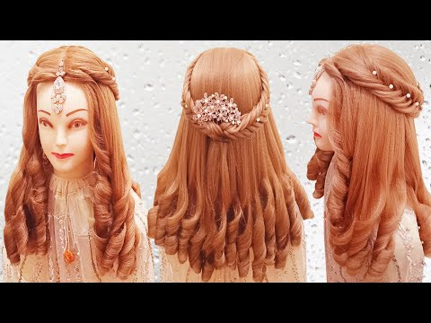 curly-hairstyle-l-kashee-hairstyles-l-latest-wedding-hairstyle-l-cute-hairstyles-for-curly-hair