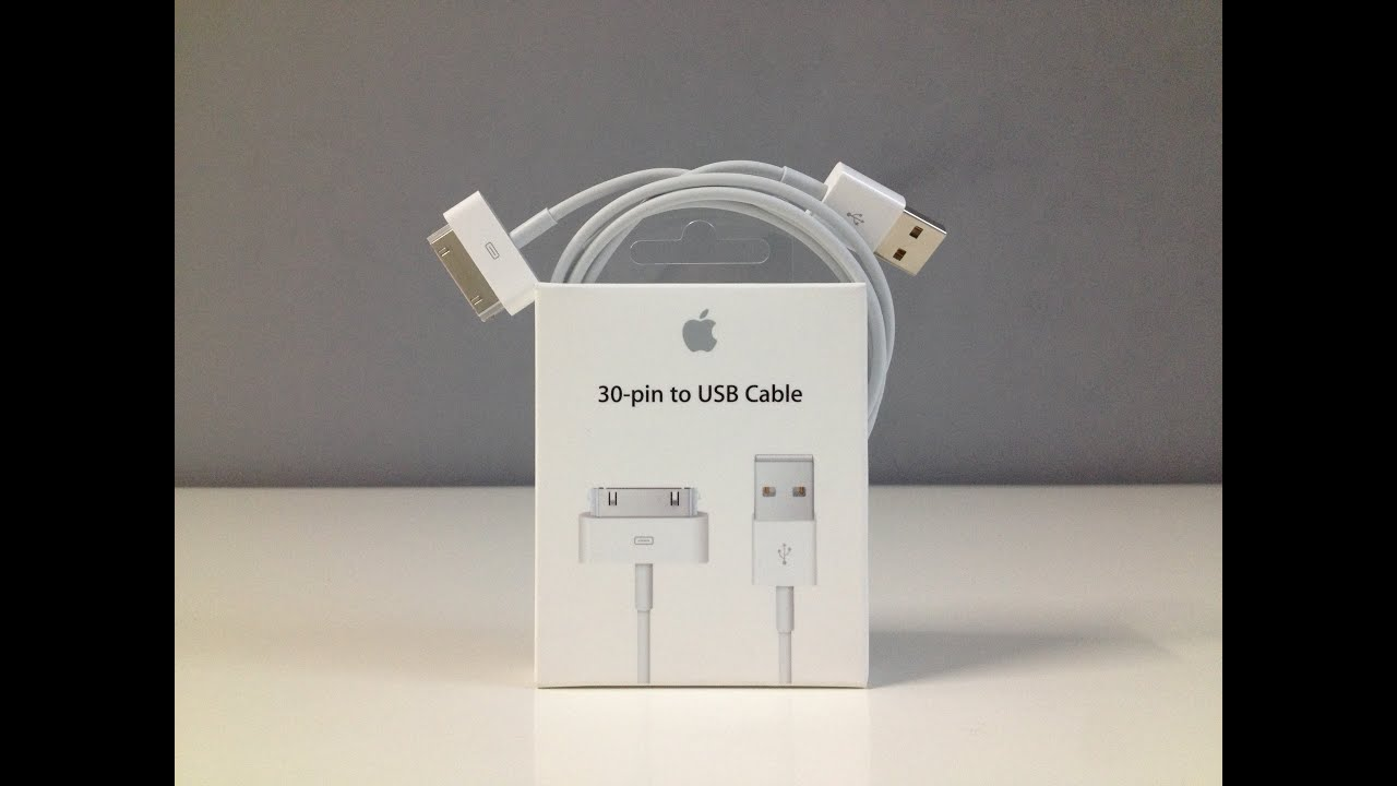 Retro Unboxing  Apple 30 Pin To Usb Cable