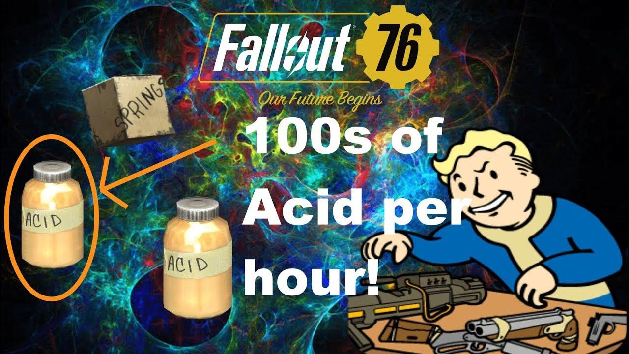 Easy Acid Farming Springs Gunpowder Crafting Part 2 Fallout 76