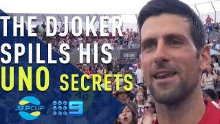 Novak Djokovic reveals his secret to winning... at Uno - ATP Cup | Wide World of Sports