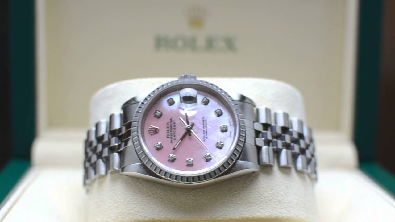 Rolex Datejust Rose Zifferblatt