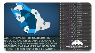 Saudi Arabia Map Kit | After Effects Template