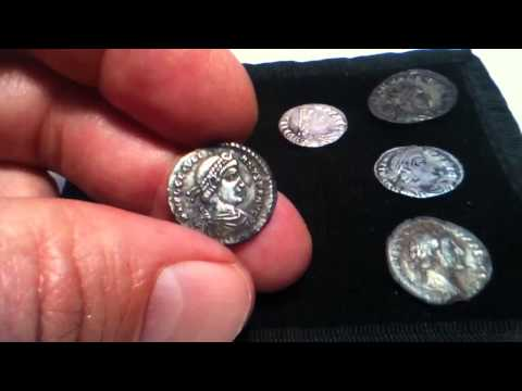 METAL DETECTING SOME BEAUTIFUL SILVER ROMAN TREASURE FROM WILTSHIRE