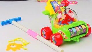 Обзор - распаковка игрушек Каталка вертолёт на палке с верёвкой Арт: 0867