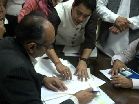 Faridabad Saran Village People At MCF Office With Advocate Anoop Sharma