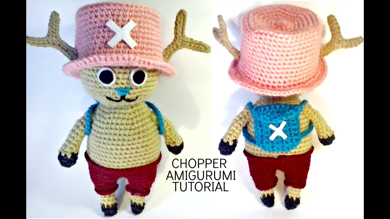Amigurumi One Piece Patrones : Tutorial CHOPPER One Piece amigurumi HOW TO CROCHET ...