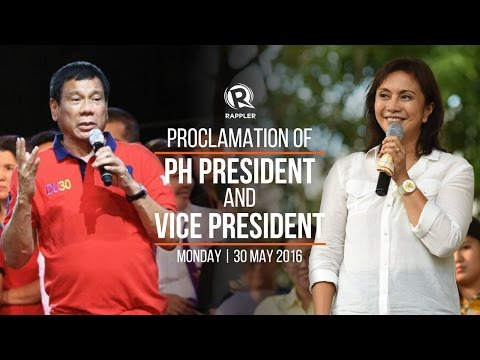 LIVE: Proclamation of PH president and vice president, May 30