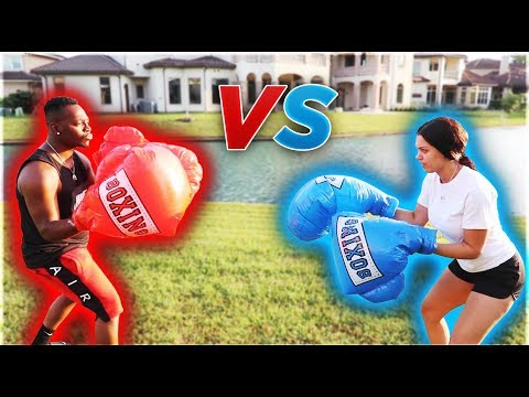 COUPLES MEGA BOXING GLOVES MATCH | THE PRINCE FAMILY