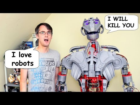 XRobots - Avengers Ultron Part 27, A REAL ROBOT - Speech Synthesis