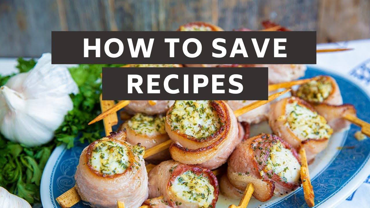 Using The Saved Recipes Feature On The Kitchen Magpie Youtube