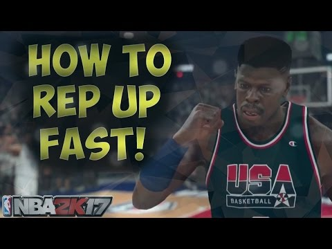 NBA 2K17 - Superstar in a week!! [ HOW TO REP UP QUICK]