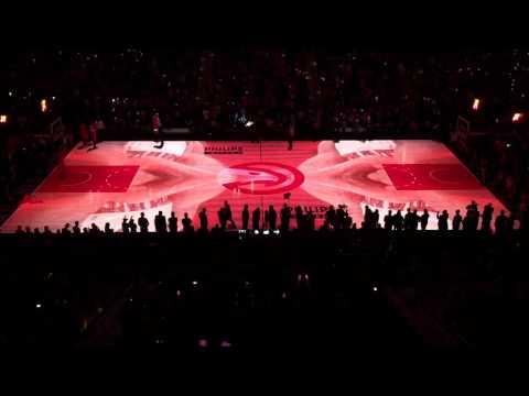 Atlanta Hawks Philips Arena 3D Court Projection