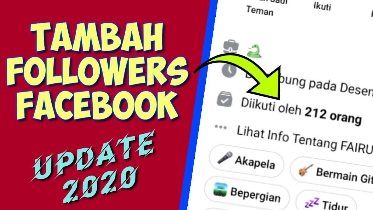 Cara Menambah Followers Facebook Update 2020 Youtube