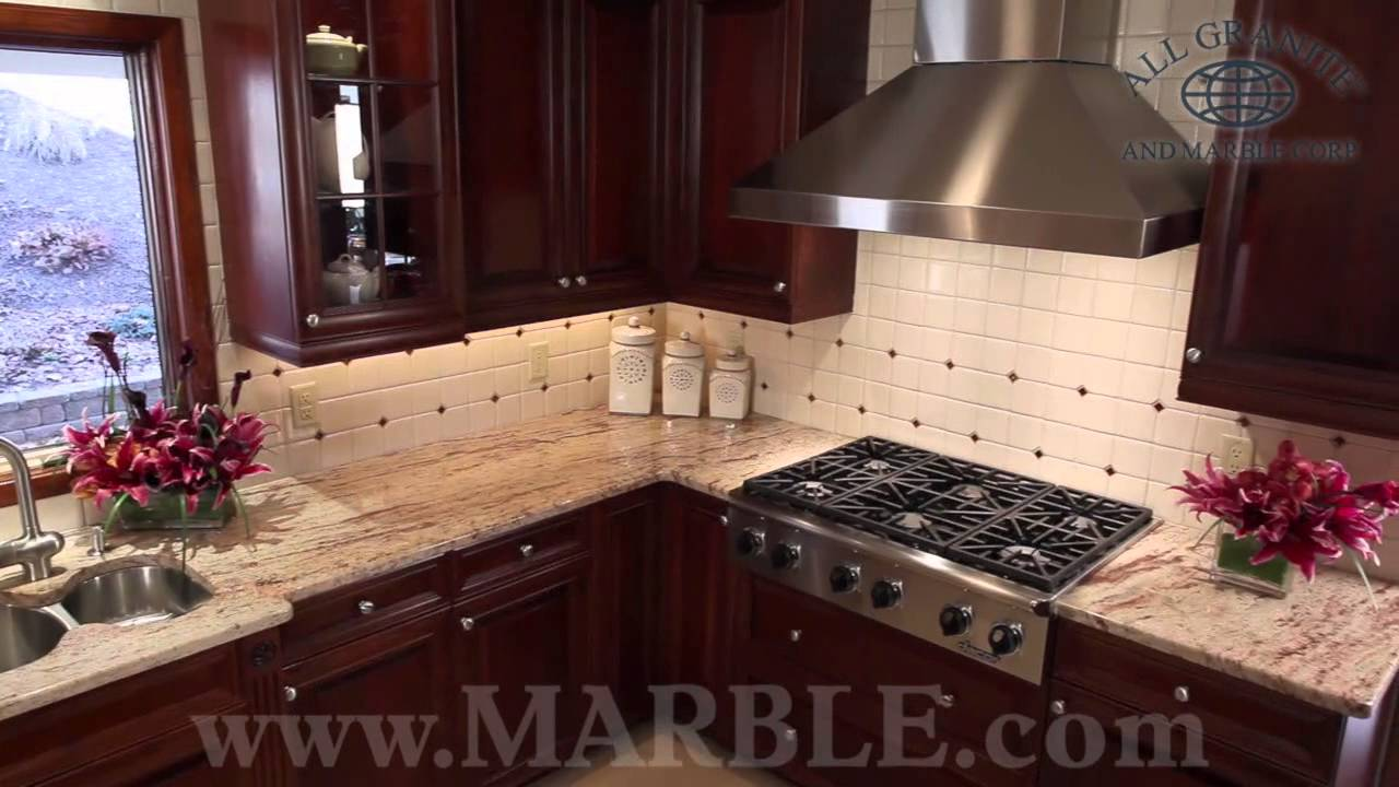 Granites For Kitchen Ivory Brown Granite Kitchen Countertops Ii By Marblecom Youtube