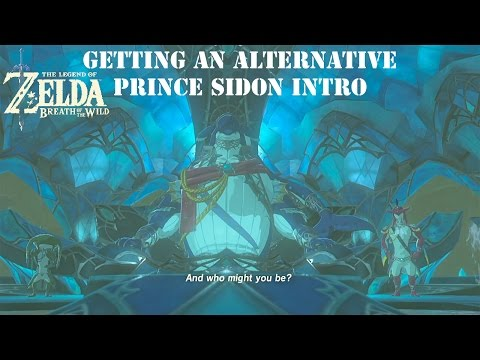 Zelda: Breath of the Wild - Getting an Alternative Prince Sidon Intro - Direct Flight!